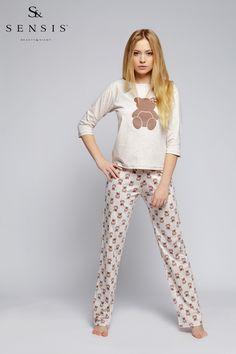 3b8cf714dd88 Dámské  pyžamo s medvídkem.  pyjama  pajamas with  teddybear  teen