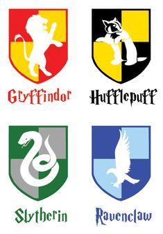 Hogwarts House Crests I Needed This For My Crafting Research
