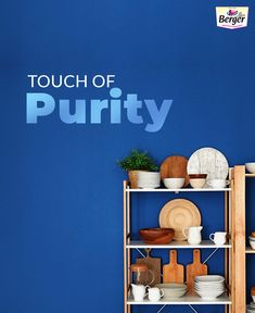 Searching for painting ideas? Bring Classic Blue, the Pantone Colour of the Year into your kitchen for a fresh vibe.