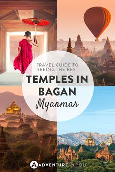 Planning a trip to Bagan Myanmar? Here are the best temples and pagodas to visit including information on how to best explore the area. Myanmar Travel, Burma Myanmar, Asia Travel, Cambodia Travel, Asia Continent, Bagan, Palawan, Travel Guides, Travel Tips