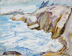Arthur Lismer - Rough Water Georgian Bay 14 x 18 Oil on canvas board Canvas Board, Georgian, Oil On Canvas, Water, Painting, Art, Art Background, Georgian Language, Painted Canvas