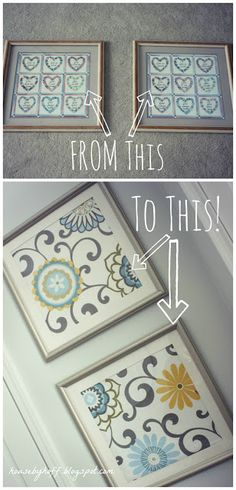 how to make fabric wall art via housebyhoff.blogspot.com