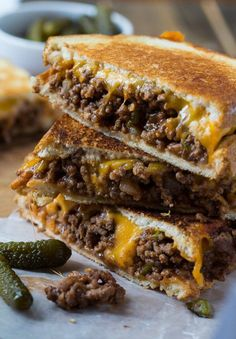 10 Sloppy Joe Grilled Cheese21+ Grilled Cheese Sandwiches that your family will go CRAZY for!