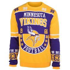 Minnesota Vikings Cotton Retro Sweater from UglyTeams