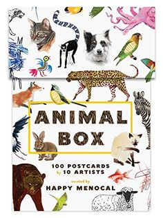 Animal Box: 100 Postcards by 10 Artists by Happy Menocal http://www.amazon.com/dp/1616893486/ref=cm_sw_r_pi_dp_tfDBvb12ZZD14
