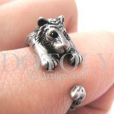 $10 Tiger Animal ring in silver! Animal rings and accessories!