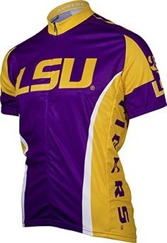 NCAA LSU Adrenaline Promotions Cycling JerseyMedium purpleyellow    More  info could be found at the 2da6fafac53