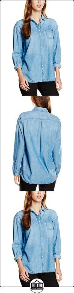 Pepe Jeans Mila, camisa Mujer, Azul (Denim Bleu), 42 (Talla del fabricante: Large)  ✿ Blusas y camisas ✿
