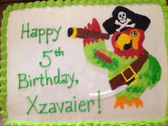Happy Birthday Xavier Cakes ~ Pirate ship cake cuteandsweetboutique my cakes