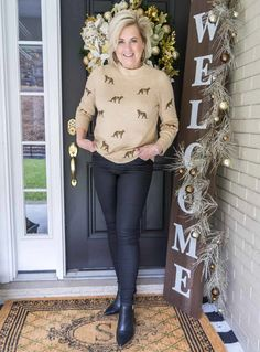HOW TO GET A LUXURIOUS FEELING FOR UNDER FIFTY DOLLARS - 50 IS NOT OLD Fashion Over 50, Fashion Looks, 50 Is Not Old, 50 And Fabulous, Style Challenge, White T, Vince Camuto Shoes, Cashmere Sweaters, Skinny Fit