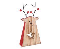 Statuina decorativa in legno Renna Star | Dalani Home & Living