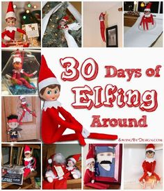 Looking for some new #ElfOnTheShelf antics? Check out 30 Days of Elfing Around!