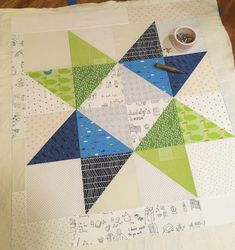 s.o.t.a.k handmade: large scale star baby quilt