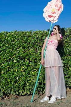 """ButterflyEATflowers"" collection by Pamela Fornari  Fotografia Tiziano Toma Fashion Designer Pamela Fornari  Model Chiara Trotti  Make-up Noemi Pasculli Assistant Alessandra Cruciani"