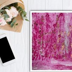 Peinture abstraite de feuille dor | Etsy Feuille D'or, Gold Leaf, Canvas Size, Leaves, Shower, Abstract, Prints, Painting, Etsy