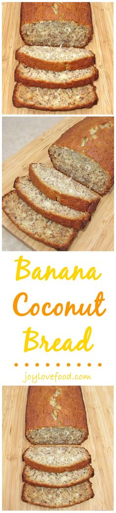 Banana bread gets a tropical twist with the addition of coconut in this yummy Banana Coconut Bread.
