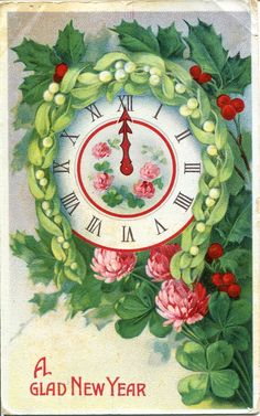 Vintage New Year Postcard 1913 Vintage Happy New Year, Happy New Year Images, Happy New Year Cards, New Year Greeting Cards, New Year Greetings, Vintage Greeting Cards, Vintage Postcards, Vintage Items, Vintage Christmas Images