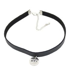 1 piece Gothic Punk Black BTS Leather Choker Necklace KPOP Bangtan Boys Collar Collette Necklace Jewelry