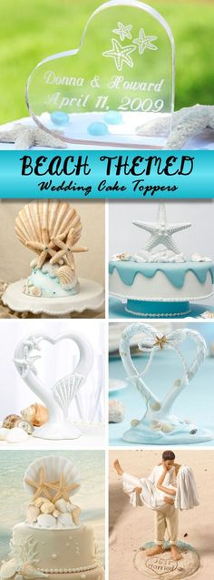 Our favorite beach themed wedding cake toppers!: