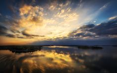 Sunrise Reflections - Morning hour at the Skerries, Sweden.