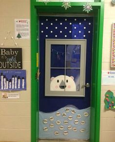 This is my preschool classroom door. My hubby built the frame of the window and ., This is my preschool classroom door. My hubby built the frame of the window and . This is my preschool classroom door. My hubby built the frame of t. Christmas Door Decorating Contest, Holiday Door Decorations, Winter Door Decoration, Preschool Door Decorations, Preschool Classroom Decor, Christmas Classroom Door, Classroom Window, Holiday Classrooms, School Doors