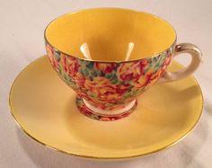 (17060308) Vintage-tea-cup-and-saucer-ROYAL LEIGHTON WARE ENGLAND | Antiques, Decorative Arts, Ceramics & Porcelain | eBay!