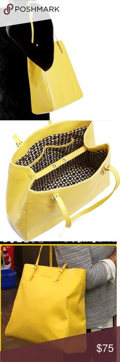 VERA BRADLEY YELLOW SLIM BUCKLE TOTE IN YELLOW HELLO 2018 COLORS  WELCOME JEWEL TONES  LARGER THAN LIFE COLORFUL TOTE  SN 14523-506  RN 8600328320    FAUX LEATHER  WIDE 20 INCH  LENGH 16 INCHES  HANDLE DOWN ADJUSTABLE UP TO 16 INCHES  SHOULDER DROP DOWN 27 INCHES  THIS IS A JEWEL TONE TOTE THAT HAS TO LIVE WITH YOU.  NEW WITH TAGS Vera Bradley Bags Totes