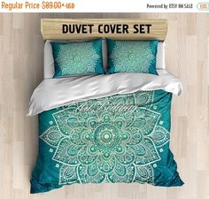 10% Holiday SALE Bohemian bedding, Bohemian queen / king / full / twin duvet cover, ethnic lotus mandala duvet cover set, Boho duvet cover, by ArtBedding on Etsy https://www.etsy.com/listing/252958439/10-holiday-sale-bohemian-bedding