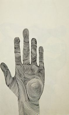 Hand Art Print by Michelle Fay