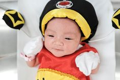 Bangkok, Thailand  A newborn wears a traditional costume to celebrate the Chinese New Year