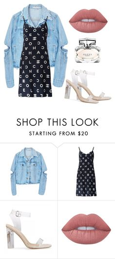 """""""Untitled #904"""" by antonela-475 on Polyvore featuring Chanel, Lime Crime and Gucci"""