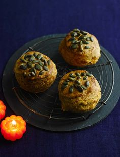 Cheese and pumpkin seed scones - perfect fresh out the oven and slathered with butter. Kitchen Recipes, Baking Recipes, Scone Recipes, Breakfast Cafe, Breakfast Recipes, Savory Scones, Savoury Baking, Cookies Ingredients, Everyday Food