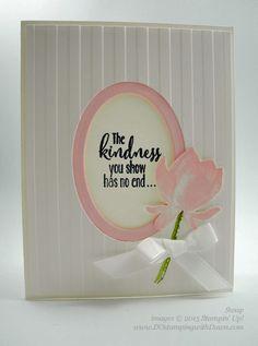 Sale-A-Bration Lotus Blossom swap card shared by Dawn Olchefske #dostamping #stampinup (Helen Osterkamp)