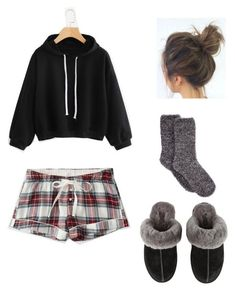 Designer Clothes, Shoes & Bags for Women Cute Lounge Outfits, Cute Lazy Outfits, Lazy Day Outfits For Summer, Teen Girl Outfits, Pajamas For Teens, Pajamas Women, Cute Pjs, Cute Pajamas, Polyvore Outfits