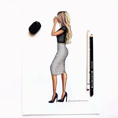 """✏ #fashionillustration #fashiondoodles #fashionillustrations #fashionsketch #fashiondrawing #fashionart #fashiondesign #fashionillustrator…"""