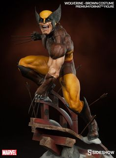 Marvel Wolverine - Brown Costume Premium Format(TM) Figure | Sideshow Collectibles