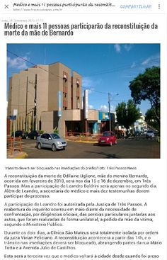 BERNARDO UGLIONE BOLDRINI - JUSTIÇA PARA TODOS OS ENVOLVIDOS - RECONSTITUIÇÃO