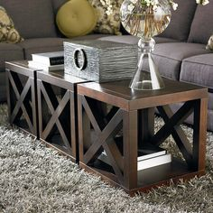 Wooden Motif Designed Cube Table Comes in different finishes. Use 4 together as a square coffee table. Wooden Motif Designed Cube Table Comes in different finishes. Use 4 together as a square coffee table. Furniture Design Modern, Decor, Industrial Design Furniture, Farmhouse Sofa Table, Cube Table, Home Decor, Classic Furniture, Coffee Table, Farmhouse Furniture