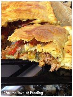 Tuna Empanada with Caramelized Onions and Peppers