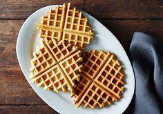 Este waffle de grão-de-bico é rico em proteínas
