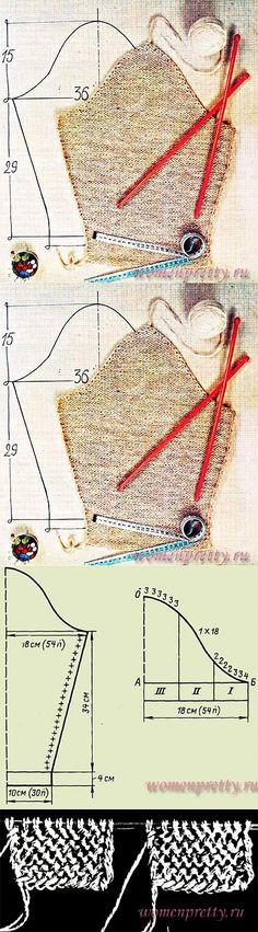 Расчет вязания оката рукава. | вязание | Постила