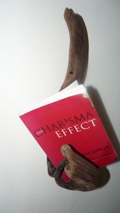 book holder from drift wood