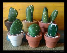 DIY cactus from pebbles - do it with kids!