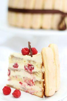 Tiramisu Cake with Raspberries