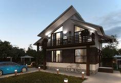 Проекты двухэтажных домов - ПИЛОТ 84 м2