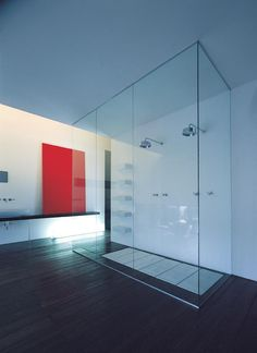 Modern glass shower... #bestbathroom #bathroomremodel #remodel #losangeles #luxuryhome