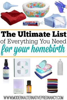 The Ultimate List of Everything You Need in Your Homebirth Kit