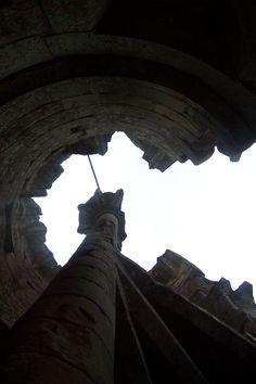 Old Wardour Castle, steps looking up