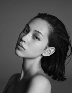 "teammizuhara: "" B&W Portrait of Kiko Mizuhara x """