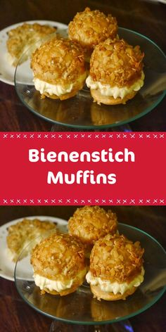 LECKER Bee sting muffins - ingredients for the bee sting muffins: for the ma . - LECKER Bee sting muffins – ingredients for the bee sting muffins: for the almond crust: 1 tablesp - Sweet Recipes, Cake Recipes, Simple Recipes, Best Pie, Flaky Pastry, Mini Muffins, Cakes And More, Food Cakes, Cake Cookies